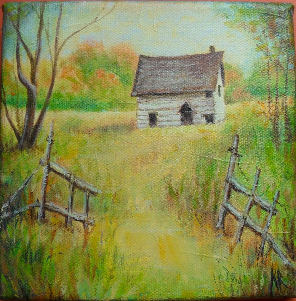 """Cottage Home"" original fine art by Karen Roncari"