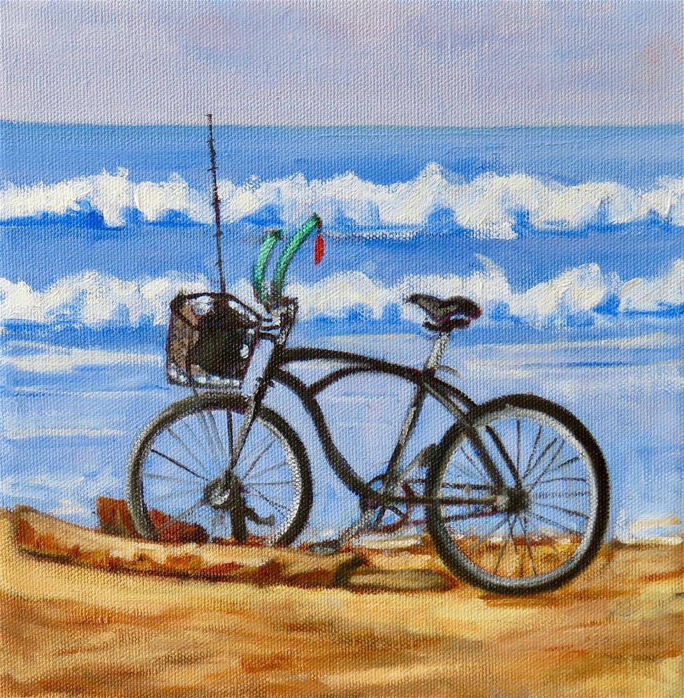 """BEACH BIKE"" original fine art by Deborah Czernecky"