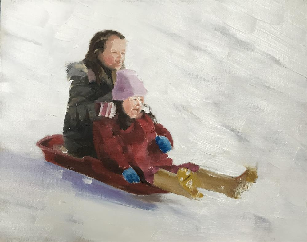 """Sister Sledge"" original fine art by James Coates"