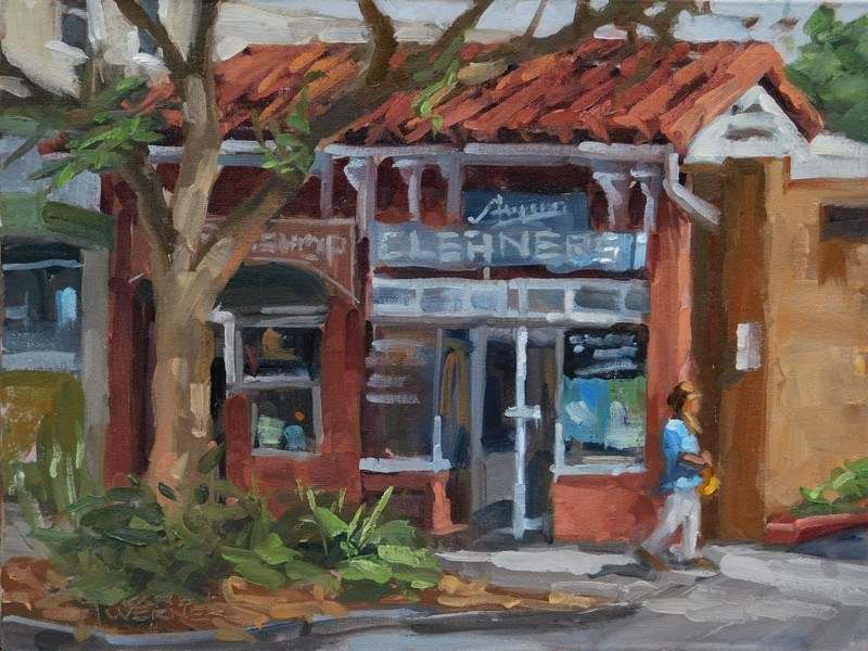 """The Old Cleaners"" original fine art by Karen Werner"