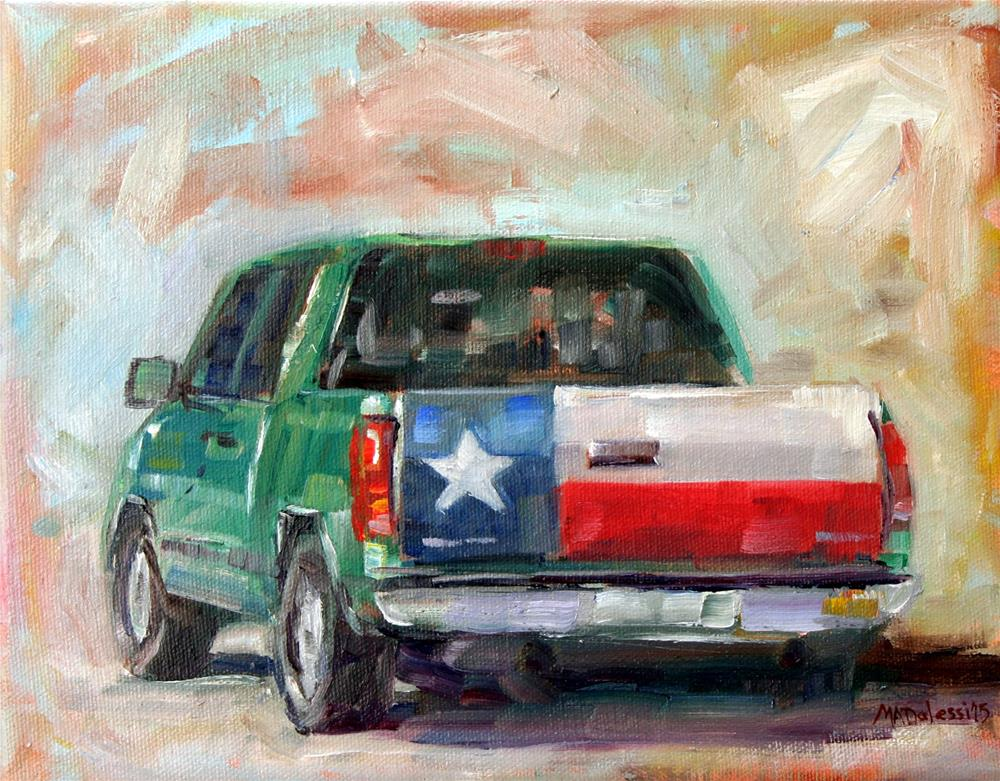 """Texas pickup truck"" original fine art by Miranda Dalessi"