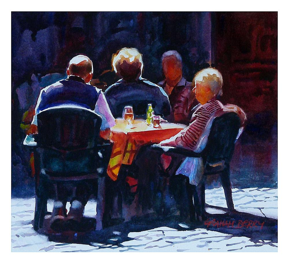 """""""Table in the sun."""" original fine art by Graham Berry"""