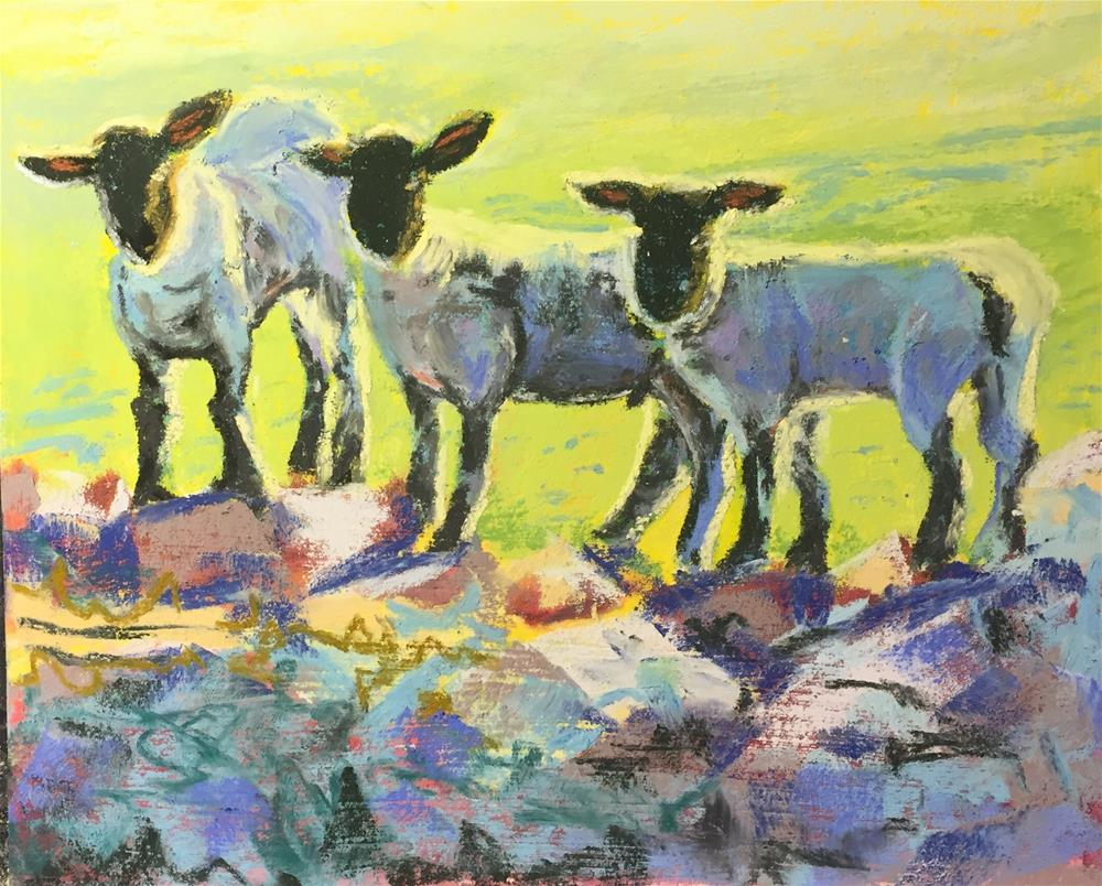 """Sheep 3"" original fine art by Natasha Ramras"