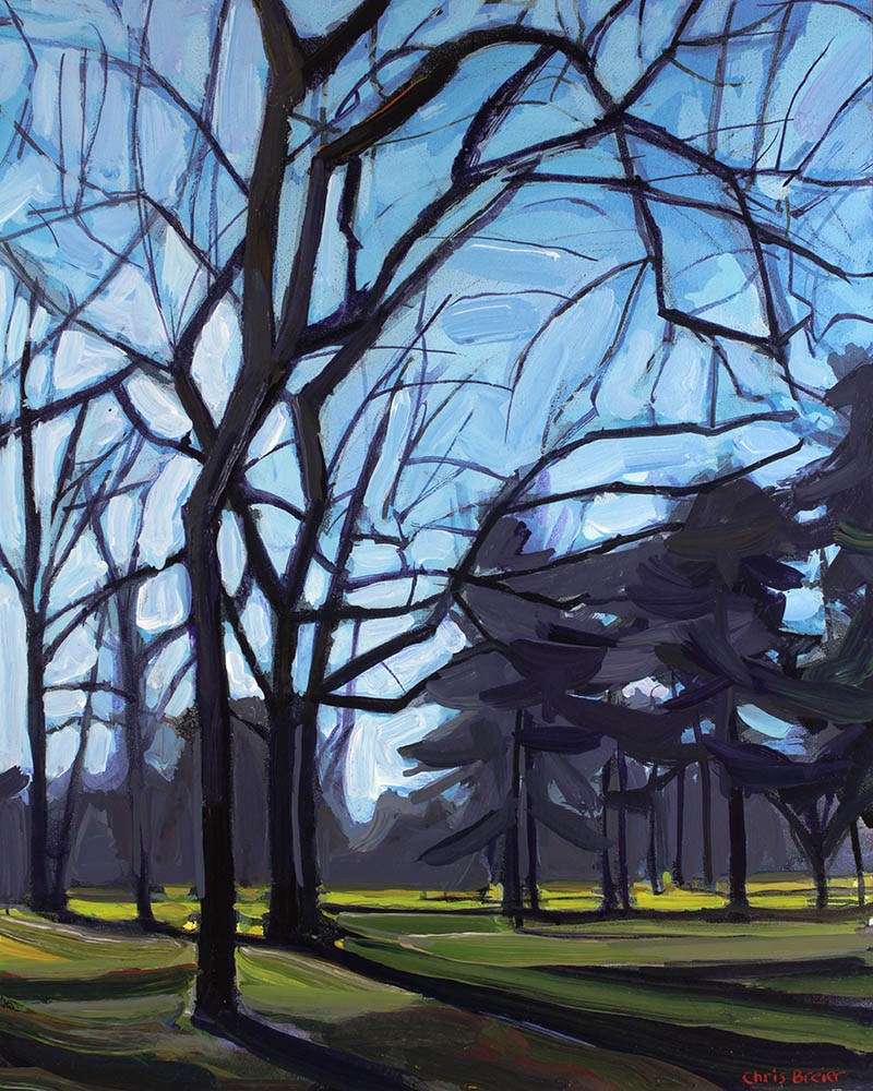 """Botanical Gardens Golf Course"" original fine art by Chris Breier"