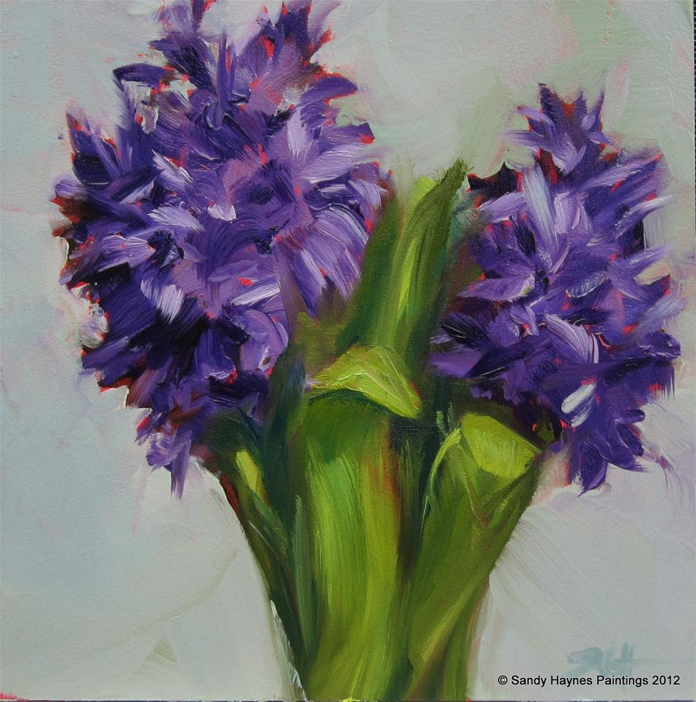 """Hyacinth tops"" original fine art by Sandy Haynes"
