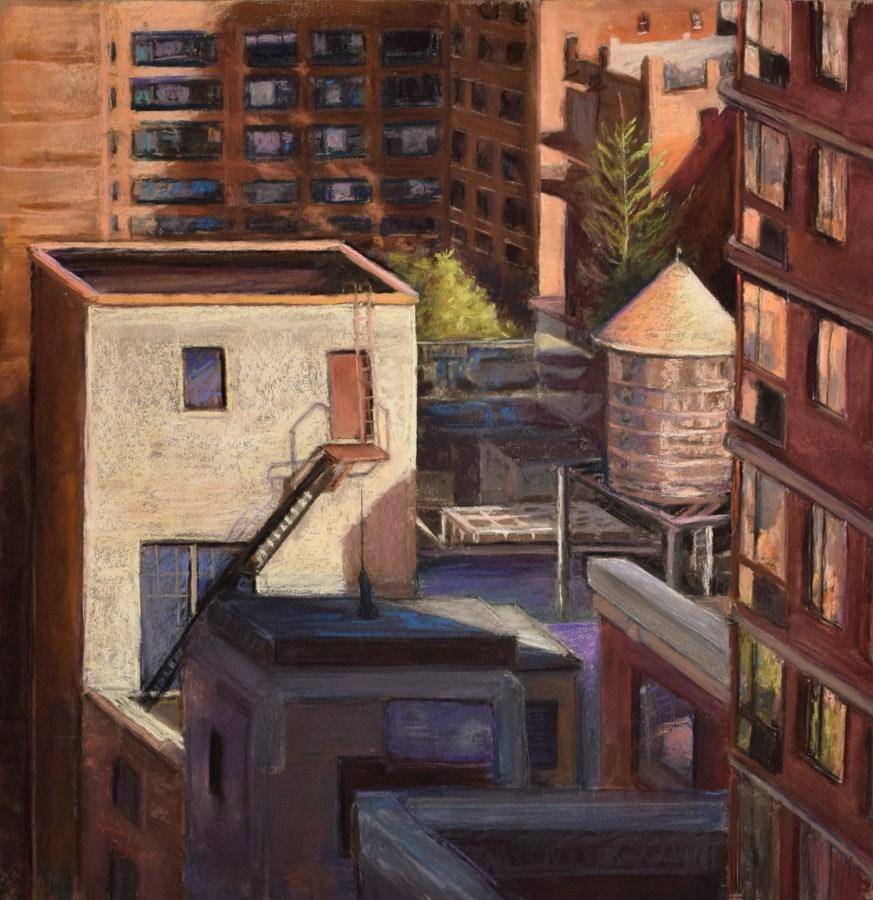 """""""East Side Labyrinth"""" original fine art by karen israel"""