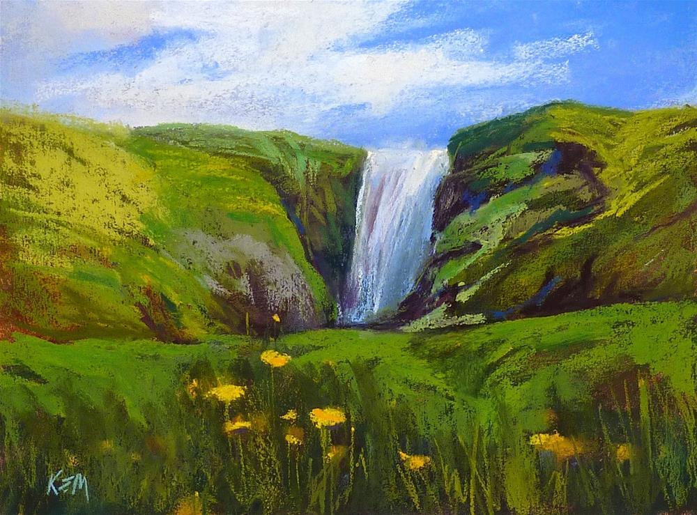 """""""Paint Along Monday....Iceland Landscape"""" original fine art by Karen Margulis"""