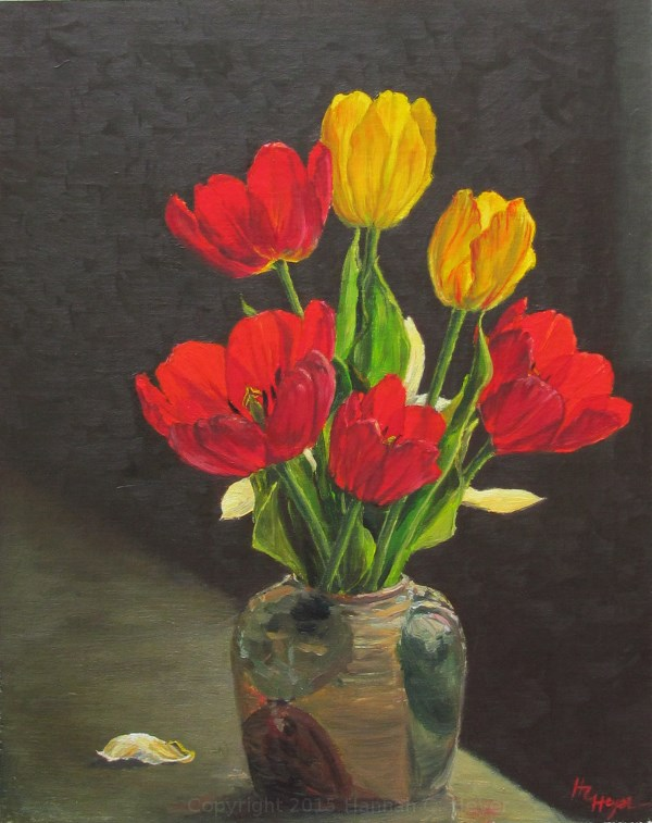 """Tulips"" original fine art by Hannah C. Heyer"