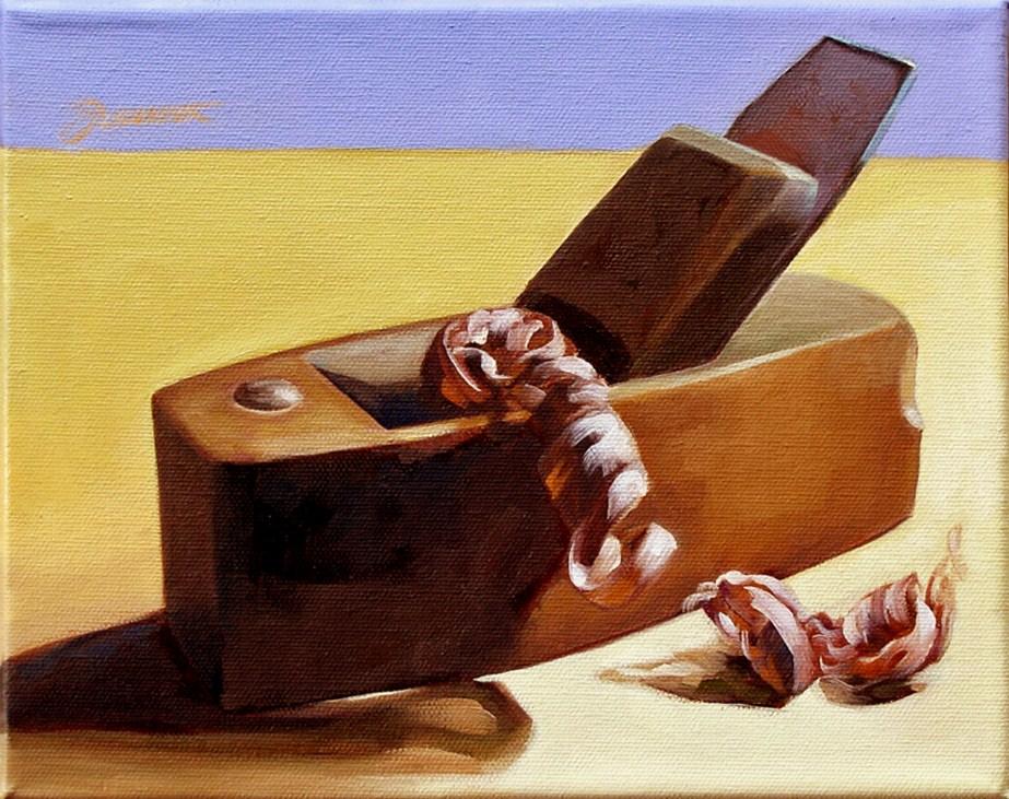 """Old Plane"" original fine art by Joanna Bingham"