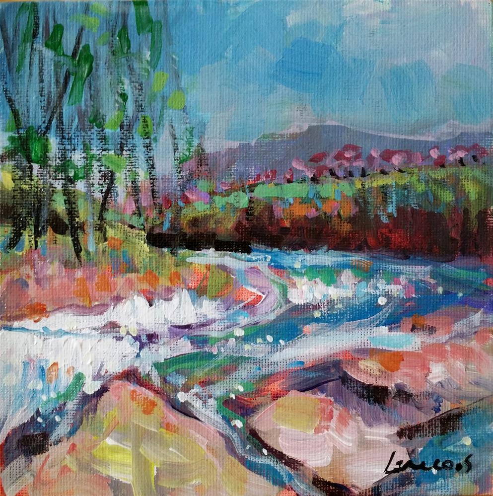 """""""river"""" original fine art by salvatore greco"""