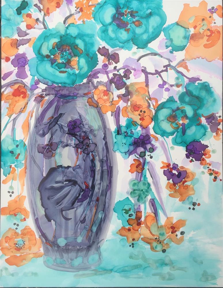 """""""Fantasy Flowers"""" original fine art by Kelly Alge"""