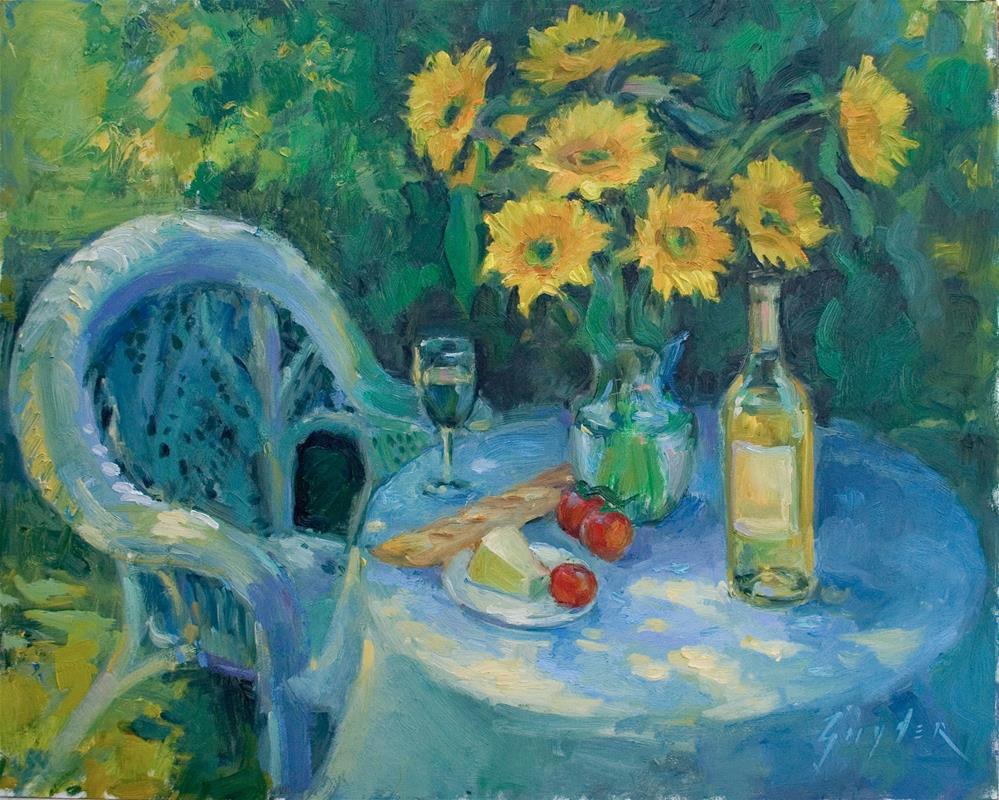 """""""A Taste of Summer"""" original fine art by Julie Snyder"""