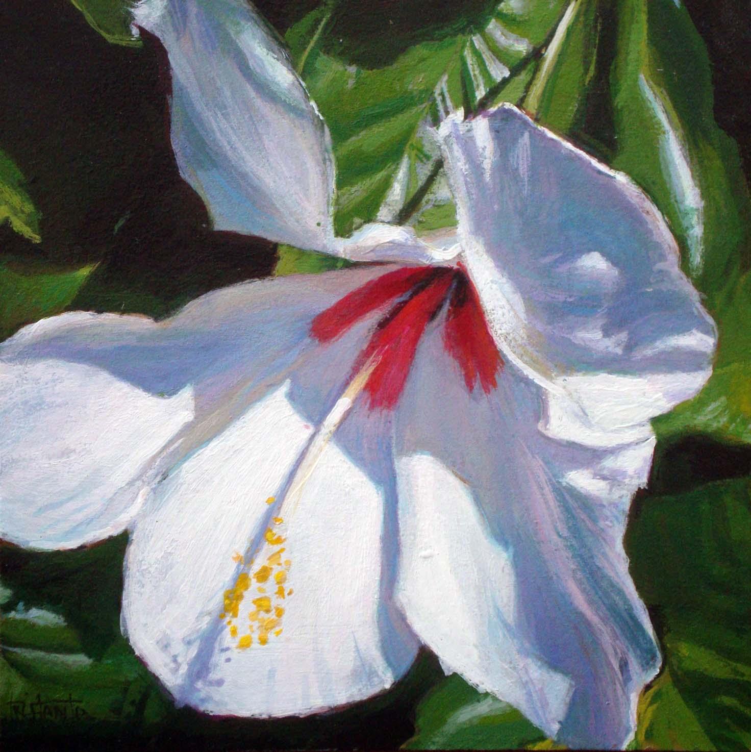 """Hibiscus"" original fine art by Víctor Tristante"