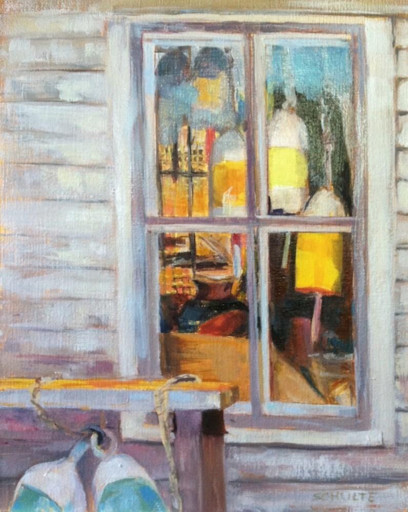 """""""Shack Window, Friendship, ME (Framed)"""" original fine art by Lynne Schulte"""