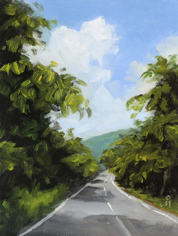 """Full Speed Ahead"" original fine art by Mandar Marathe"