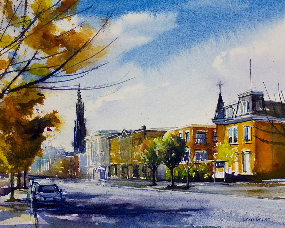 """Main & Virginia"" original fine art by Chris Breier"