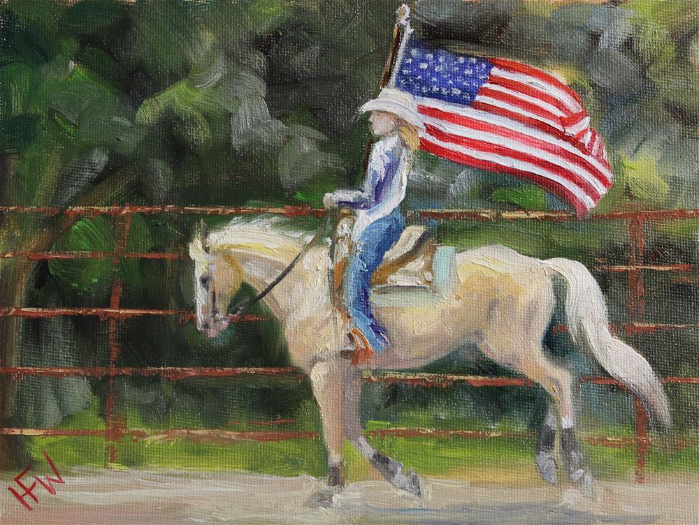 """Rodeo Tribute"" original fine art by H.F. Wallen"