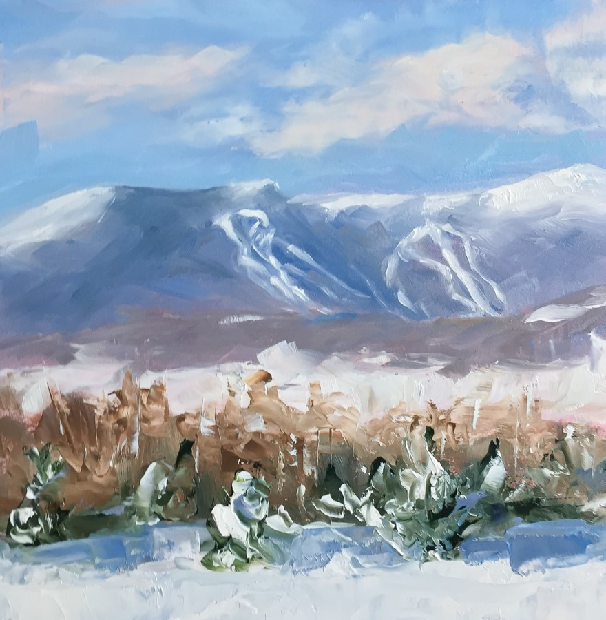 """#117 - Mt Mansfield - Stowe, VT"" original fine art by Sara Gray"