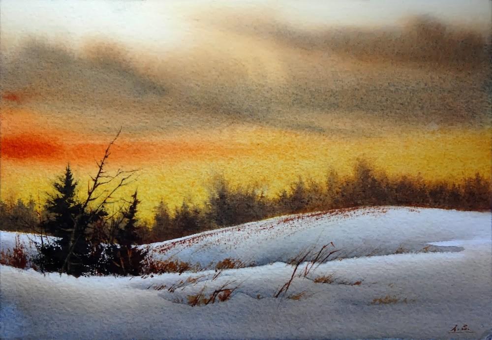 """Amber Glow"" original fine art by Arena Shawn"