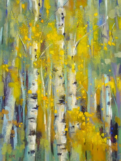 """""""5 Tips for Painting Vibrant Yellow Foliage with Pastels"""" original fine art by Karen Margulis"""
