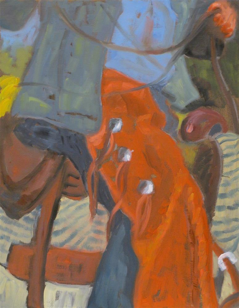 """Chaps"" original fine art by Judy Elias"