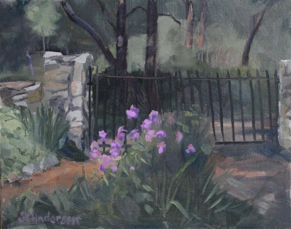 """""""Old garden gate"""" original fine art by Susan Andersen"""