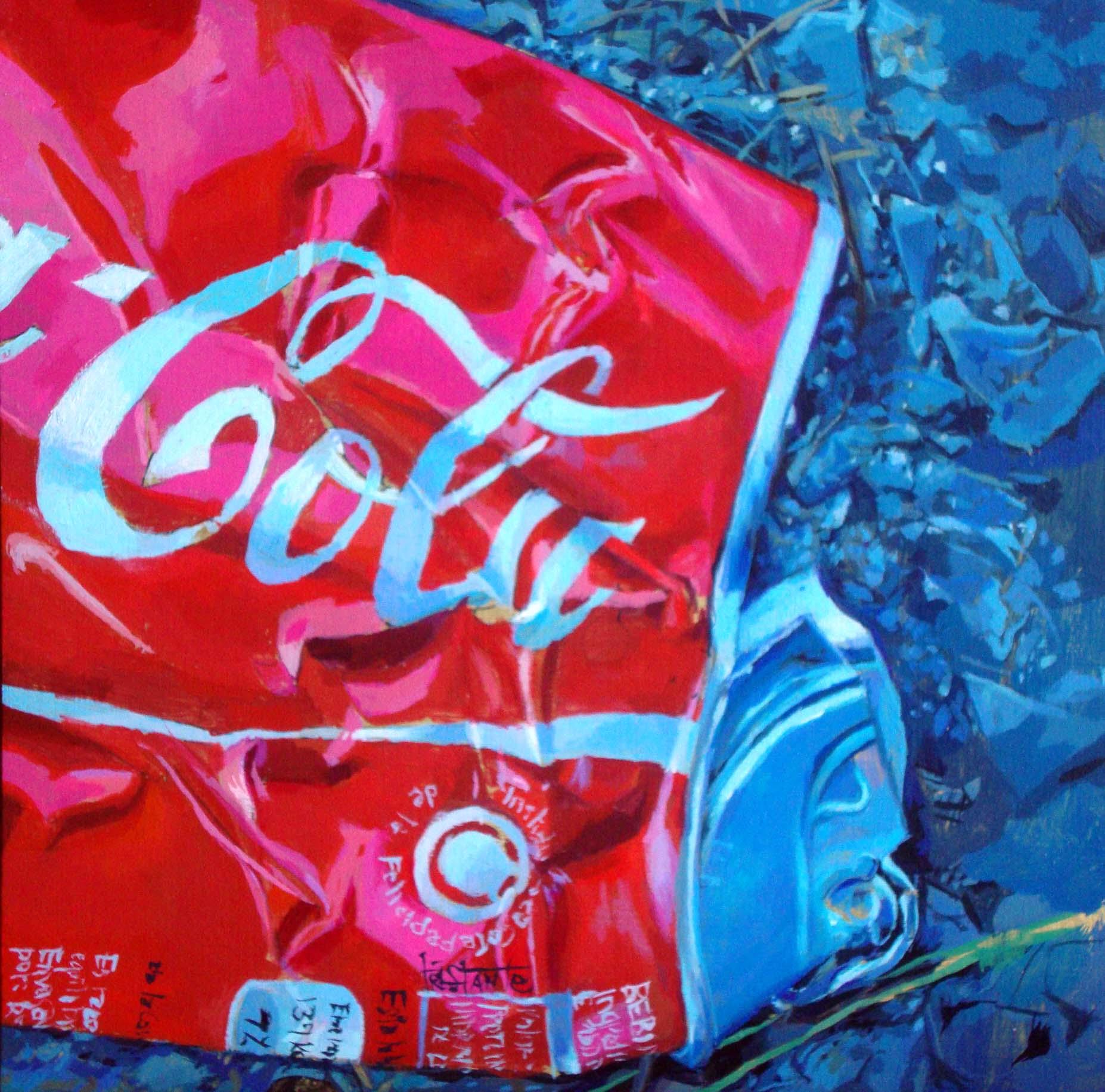 """""""Crushed-Cola"""" original fine art by Víctor Tristante"""