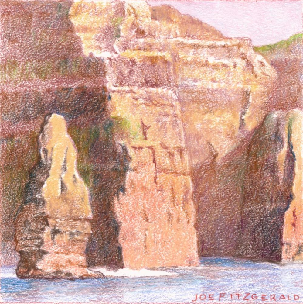"""Sailing Round Moher V"" original fine art by Joe Fitzgerald"