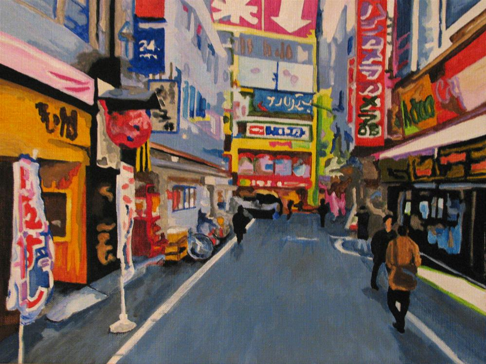 """Toyko - Feels Like Home"" original fine art by Nan Johnson"