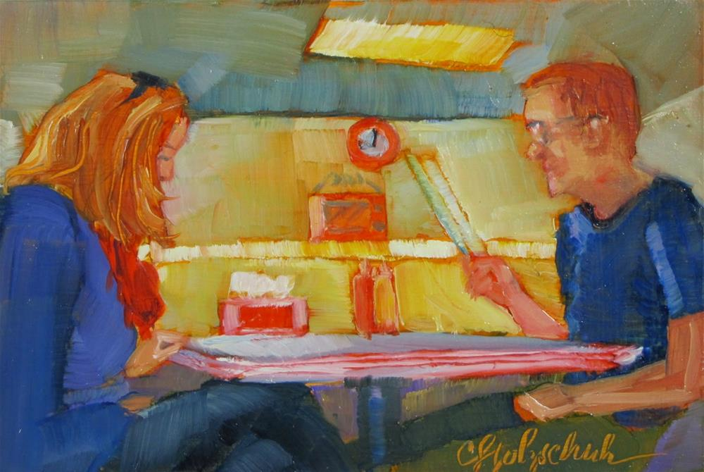 """Diner"" original fine art by Christine Holzschuh"