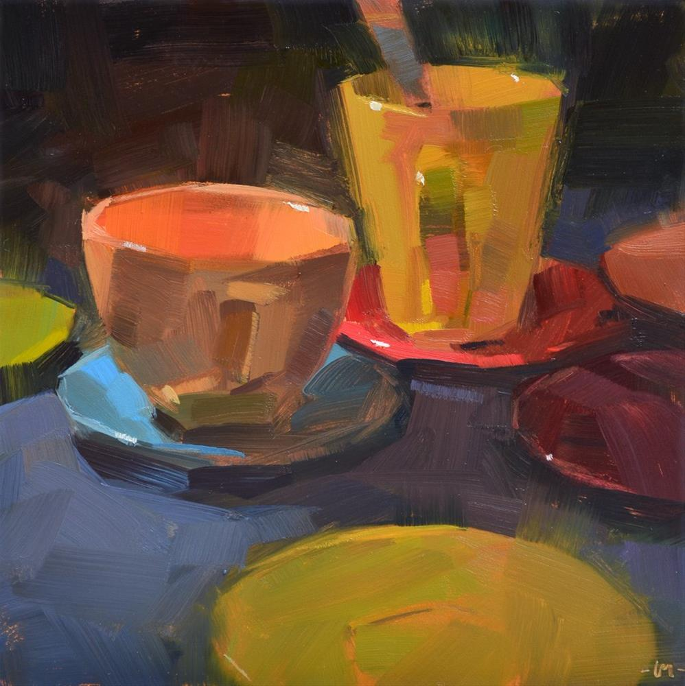 """Sea of Saucers"" original fine art by Carol Marine"