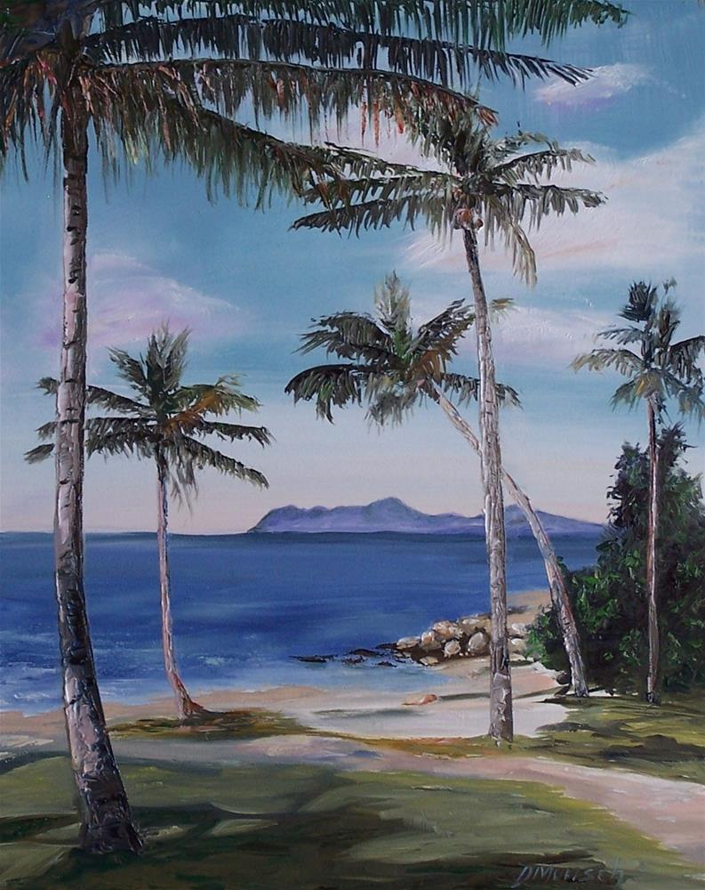 """""""Palm Trees"""" original fine art by Donna Munsch"""