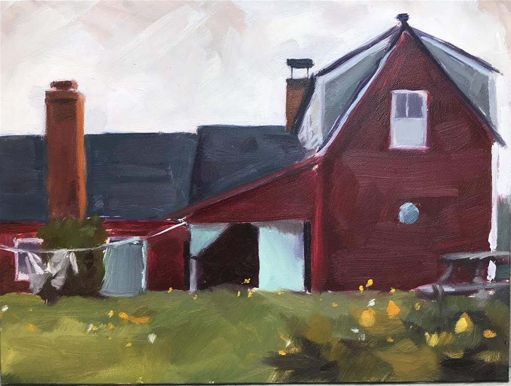 """Farm House, Monhegan"" original fine art by Sharon Schock"