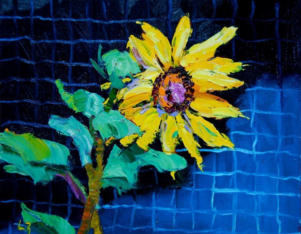 """""""Afternoon Sunflower"""" original fine art by Liz Zornes"""