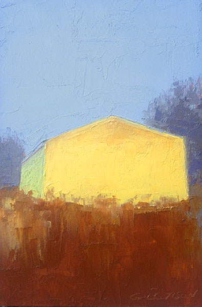 """""""Yellow Barn, Afternoon"""" original fine art by Mary Gilkerson"""
