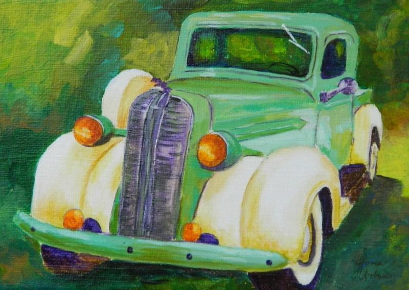 """""""1938 Dodge Truck #1"""" original fine art by Gloria Urban"""