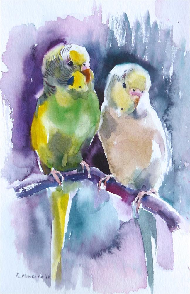 """budgie21"" original fine art by Katya Minkina"