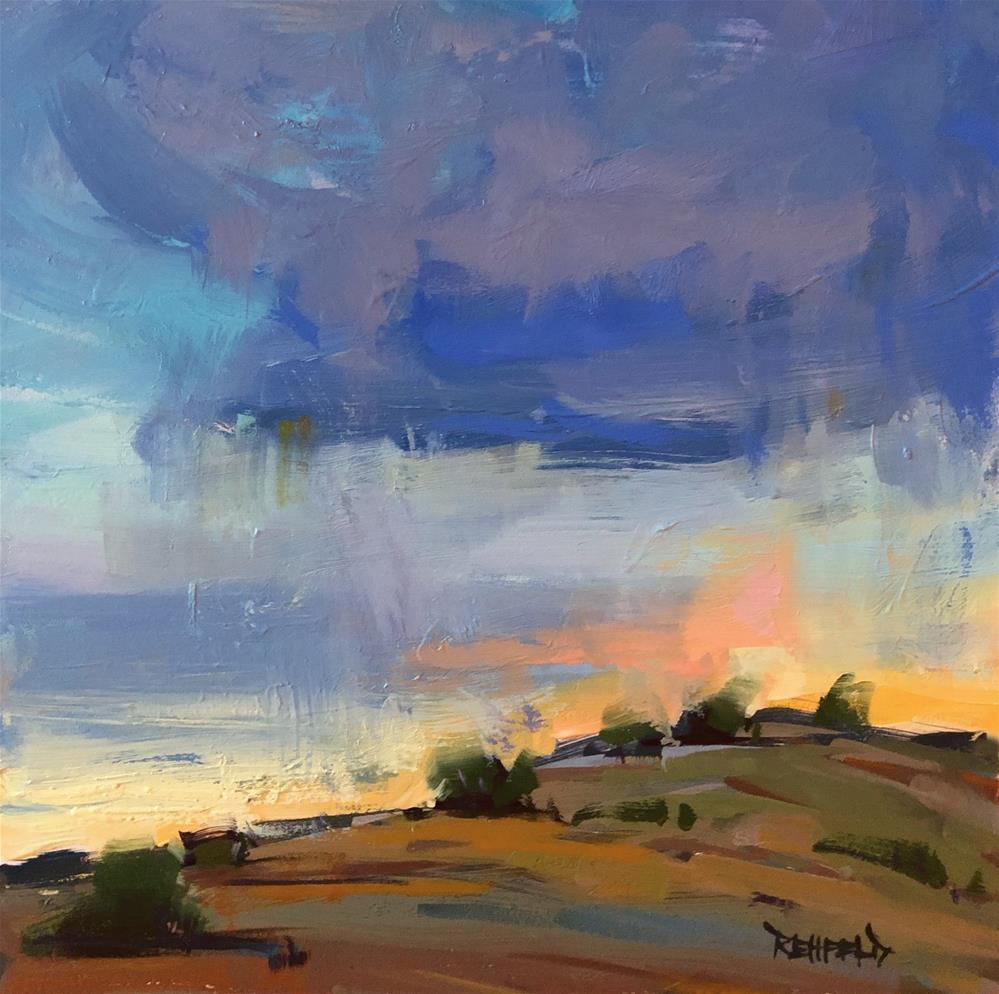 """""""Sunset Hill"""" original fine art by Cathleen Rehfeld"""