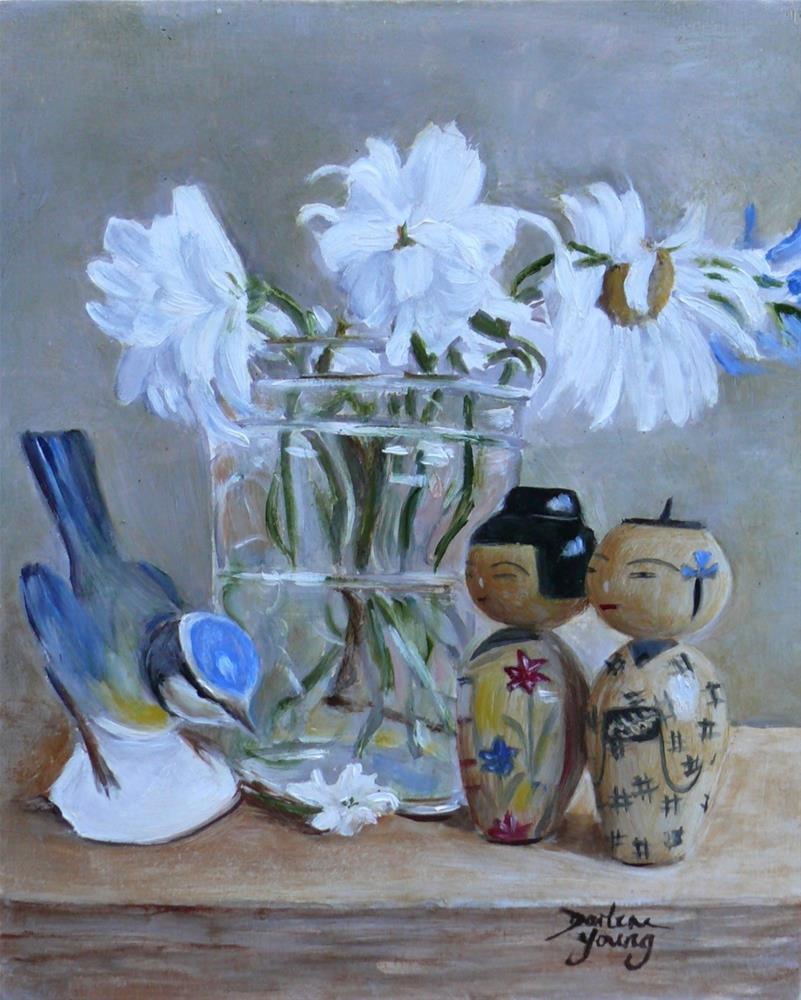 """Admirer"" original fine art by Darlene Young"
