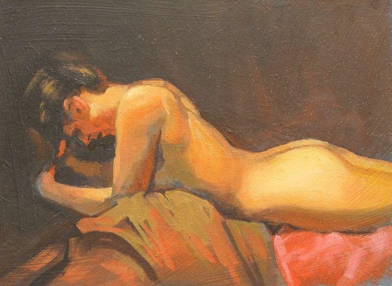 """""""Head in hands"""" original fine art by Peter Orrock"""