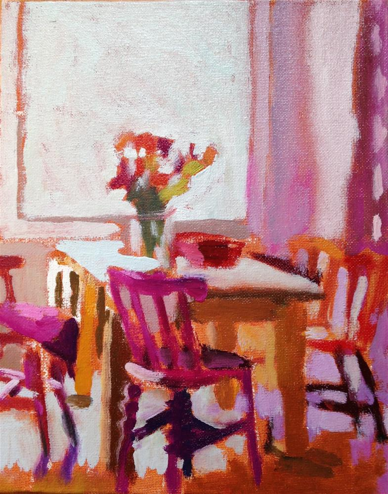 """""""Chairs of Happiness"""" original fine art by Pamela Hoffmeister"""