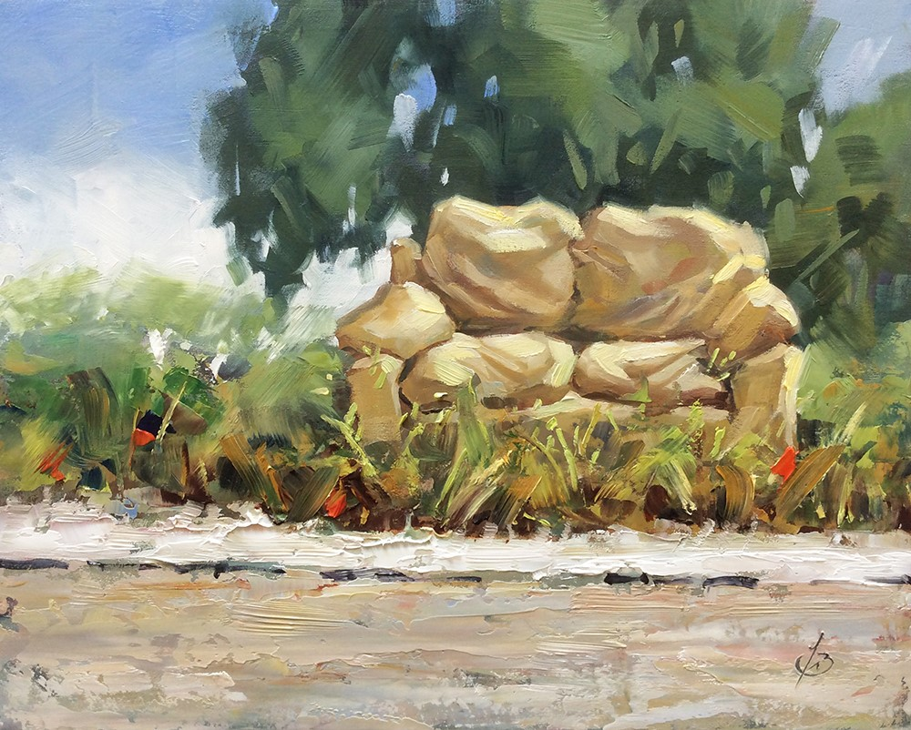 """ROADSIDE REST STOP"" original fine art by Tom Brown"
