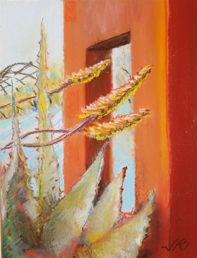 """Agave"" original fine art by Jean Krueger"