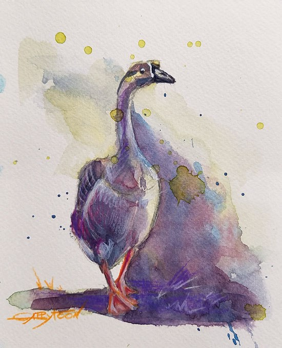 """A Goose. Little sketch"" original fine art by Gabriella DeLamater"