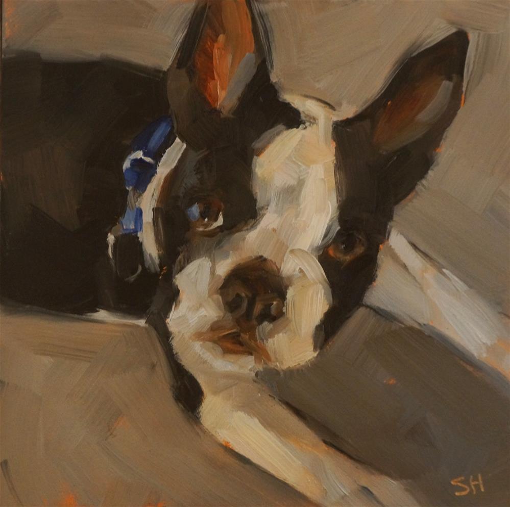 """Warren"" original fine art by Sue Harrell"