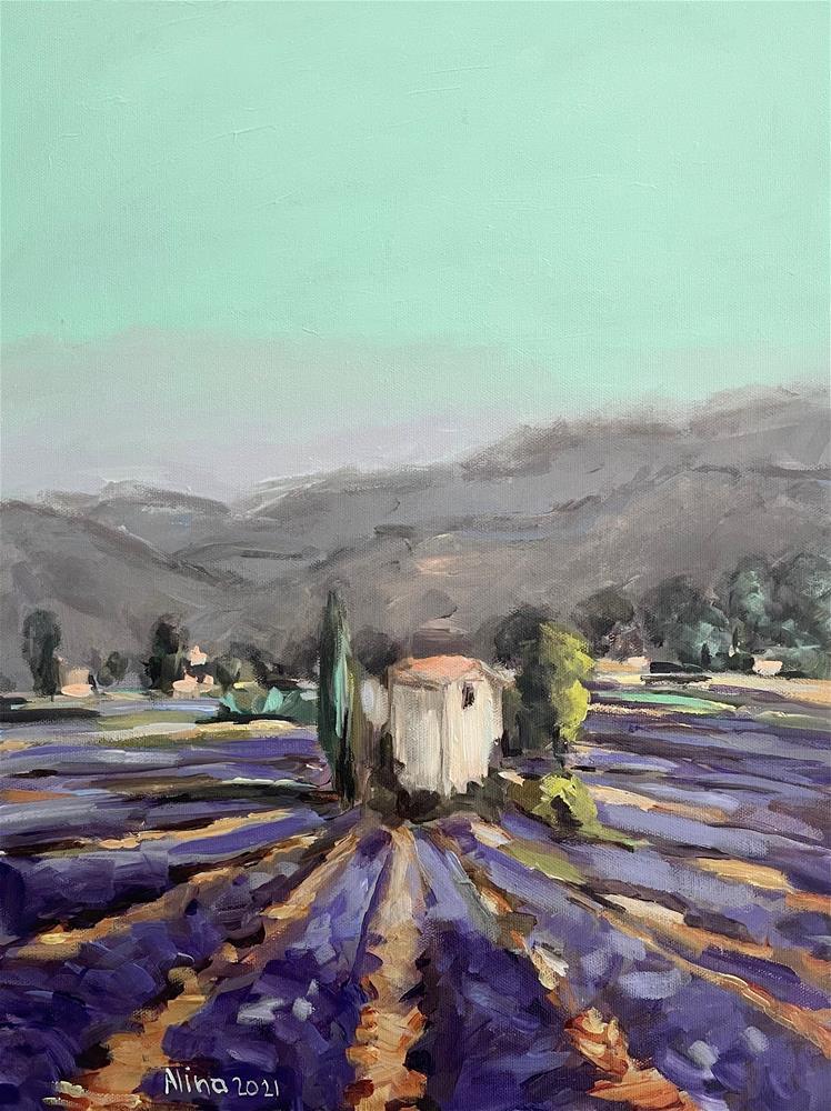 """""""Somewhere in Provence"""" original fine art by Alina Vidulescu"""
