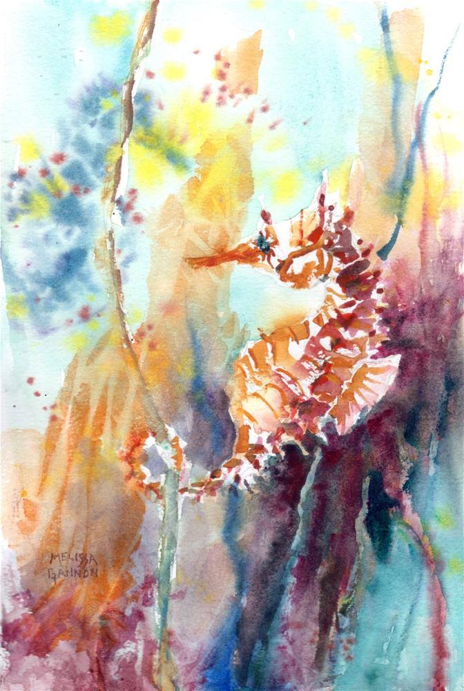 """Seahorse"" original fine art by Melissa Gannon"