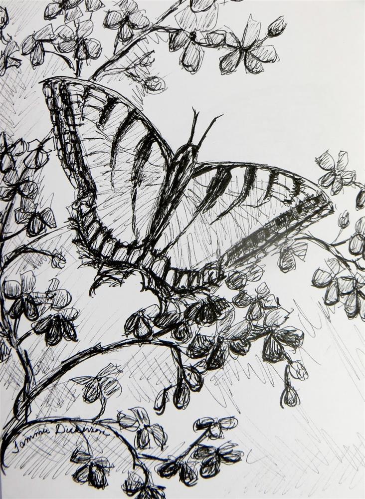 """Swallowtail"" original fine art by Tammie Dickerson"