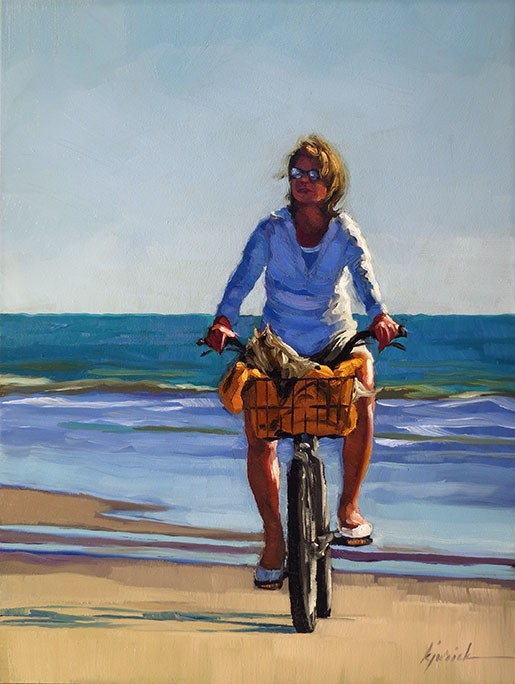 """""""Bicycle For Two"""" original fine art by Karin Jurick"""