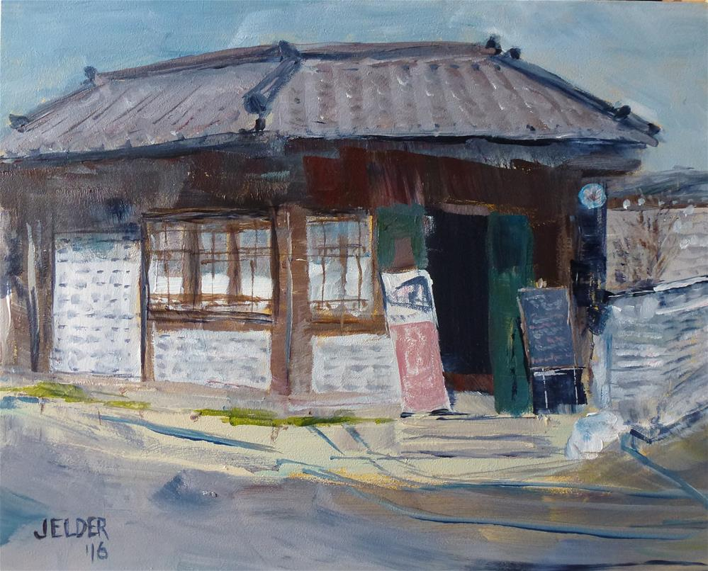 """A Good Place For Breakfast, Osaka"" original fine art by Judith Elder"